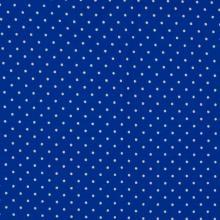 Плат Poplin Кралско синьо на малки бели точки - 50 х 50 см