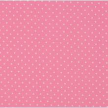 Плат Poplin Розово на малки бели точки - 50 х 50 см