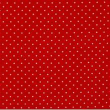 Плат Poplin Червено на малки бели точки - 50 х 50 см