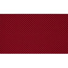 Плат Poplin бордо на малки бели точки 50 х 50 см