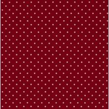 Плат Poplin Бордо на малки бели точки - 50 х 50 см
