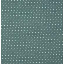 Плат Poplin - Малки бели точки на пастелно ментов фон, 50 х 46 см