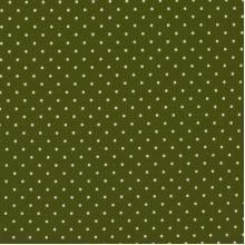 Плат Poplin тъмно зелено на малки бели точки 50 х 50 см