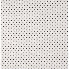 Плат Poplin - Малки черни точки на бял фон, 50 х 46 см