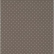 Плат Poplin - Малки бели точки на сив фон, 50 х 46 см