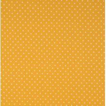 Плат Poplin Пастелно жълто на малки бели точки, 50 х 46 см