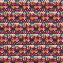 Плат Poplin - Щастливи лалета, 50 х 46 см
