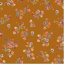 Плат Poplin - Акварелни букетчета, 50 х 46 см