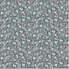 Плат Poplin Розички за зелен фон - 50 х 50 см