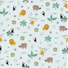 Плат Poplin Весел зоопарк - 50 х 50 см