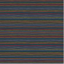 Плат Poplin Космос, райе, тъмно син фон - 50 х 46 см