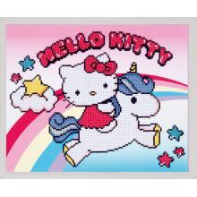 Диамантен гоблен Vervaco PN-0173568 Hello Kitty и еднорог